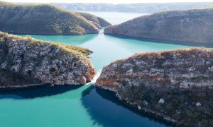 aerial-shot-of-the-Horizontal-falls-in-Talbot-Bay-the-Kimberley-Australia
