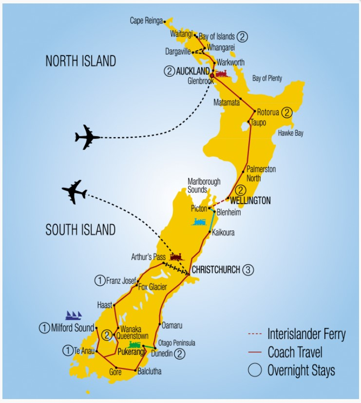 Grand-Pacific-19-Day-New-Zealand-Rail-Cruise-Coach-Holiday-route-map