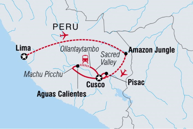 Intrepid-Peru-Family-Trip-tour-map