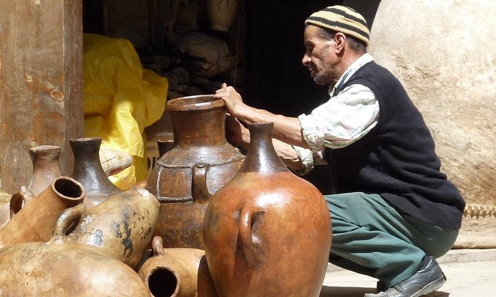 Morocco-Marrakech-Pottery