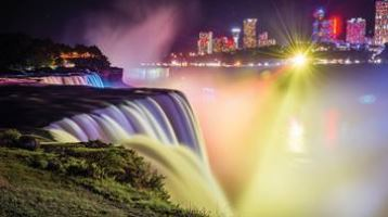 Niagara-Falls-Canada-night-lights
