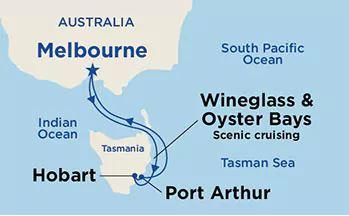Princess Cruises The Landmark Sale route map