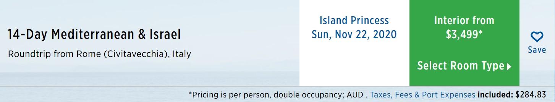 Princess Mediterranean & Israel cruise dates