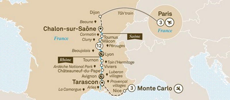 Scenic-2019-South-of-France-Paris-to-Nice-itinerary-map