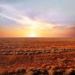 red centre sunset