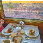 Breakfast on the ghan railway