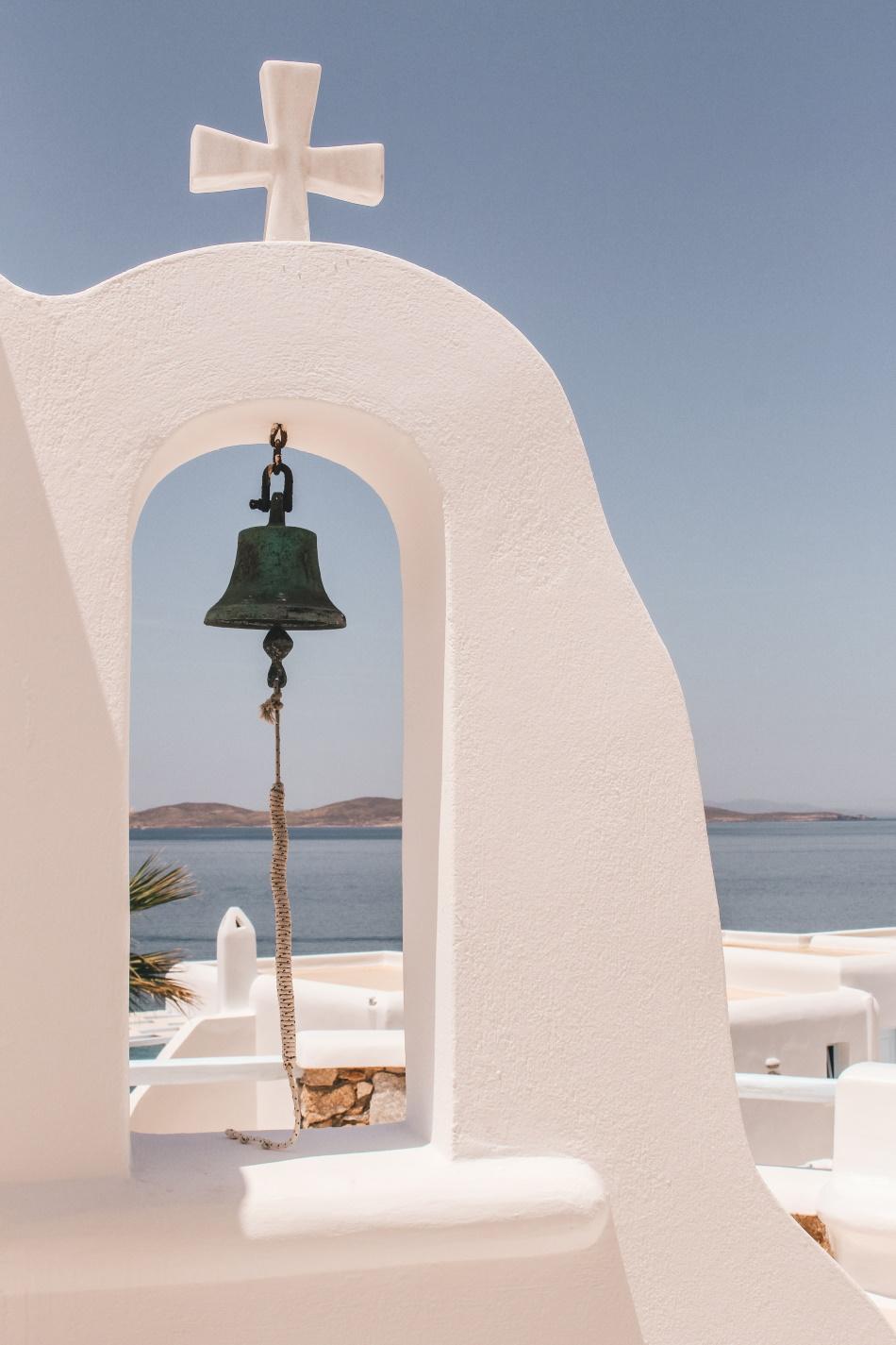 mykonos church bell greek island